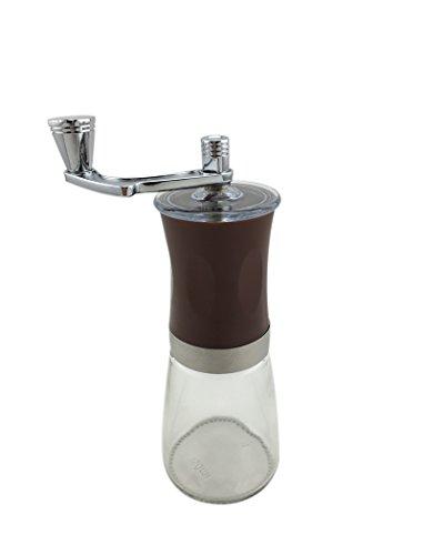 Ceramic & Glass Slim Manual Coffee Grinder, Coffee Mill, Brown
