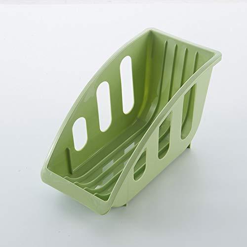 5 Slot Dish Plate Drying Rack Plastic Storage Holder Kitchen Organizer