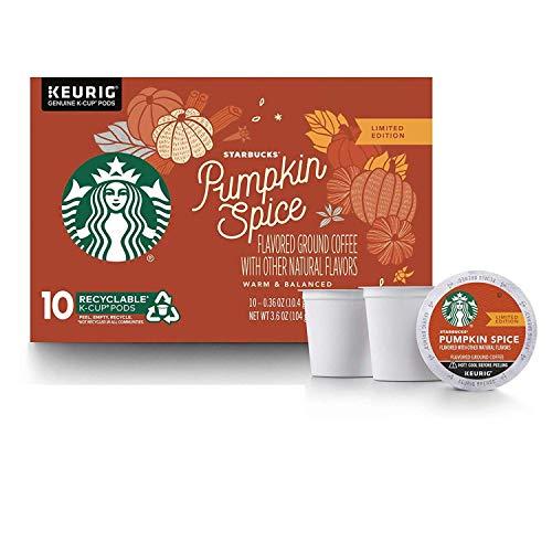 Starbucks Pumpkin Spice Flavored Ground Coffee 1 box of 10 K-Cup Single Serve Pods 1 box of 10Orange