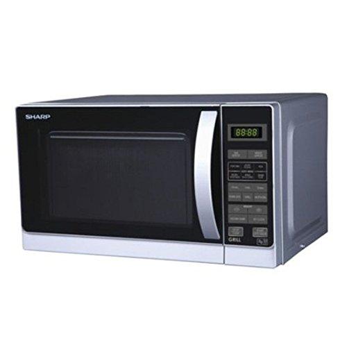 Sharp R-72A1SMV 25-Liter 900W Microwave Oven 220-volt Non-USA Compliant Silver