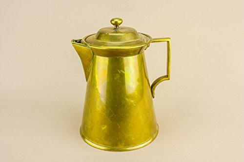 Brass Large Wine Pitcher Water Arts Crafts JUG Antique Elegant Vinegar Serving English 1880s LS