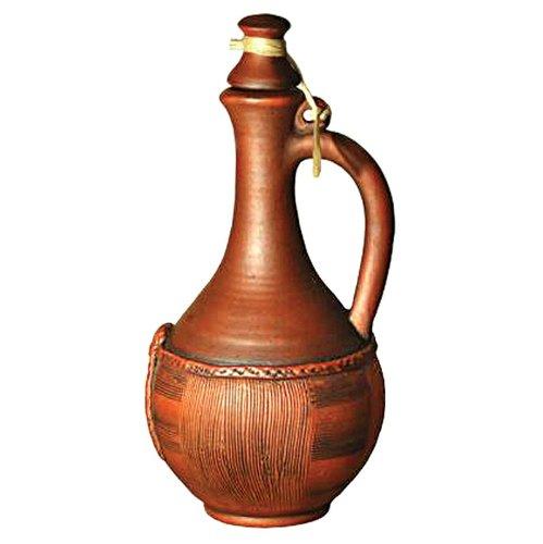 Stoneware Basket Wine Pitcher 41 Fl Oz