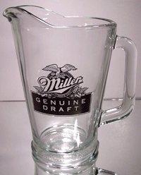 Miller Genuine Draft Glass Beer Pitcher