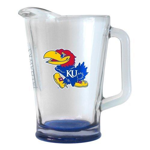 NCAA Kansas 60oz Glass Pitcher  Kansas Jayhawks Elite Beer Pitcher