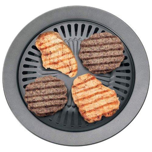 Chefmaster Stove Top Indoor BBQ Grill Plus Indoor Grilling Cookbook bundle