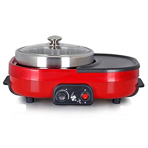 LEFJDNGB Multi Cookers Electric Korean BBQ Grill Electric Hot Pot Multi Cookers Electric for Indoor Barbecue