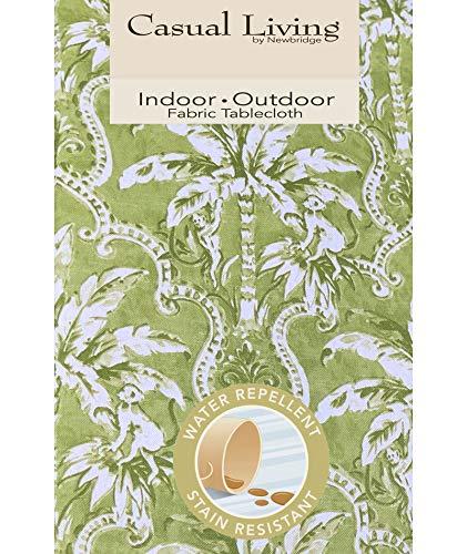 Newbridge Rafiki Lime Green Tropical Palm Tree Print IndoorOutdoor Fabric Tablecloth - Monkey Jungle Design Picnic BBQ and Patio Tablecloth 52 Inch X 52 Inch Square