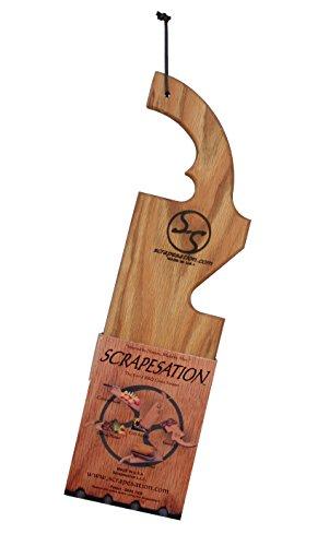 Scrapesation Wooden Oak Grill Grate Scraper