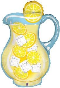 33 Lemonade Pitcher Shape Mylar Foil Balloon - Pack of 5
