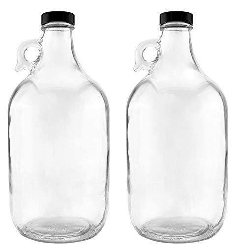 NiceBottles - Glass Half Gallon Jug Pack of 2