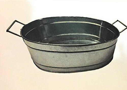 Metal tub beer cooler ice bucket 16in by 5 in keg bucket