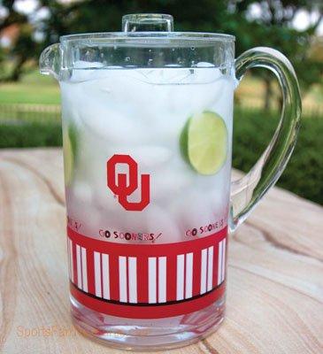 Oklahoma Sooners Acrylic Pitcher by Becky Denny