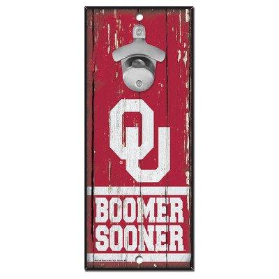 University of Oklahoma Wooden Wall Mounted Bottle Opener