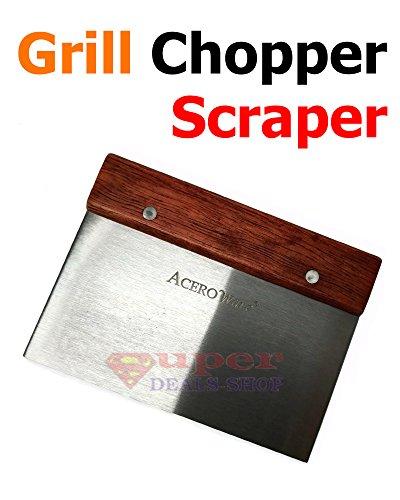 BBQ Grill Scraper Choper Scraper Tool Grill Spatula BBQ Grill Spatula for BBQ Grill Teppanyaki Griddle Camping Pancake Turner Super-Deals-Shop