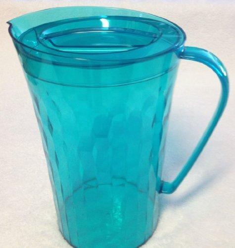 Tupperware Ice Prisms Aqua Blue Acrylic 2 Quart Pitcher
