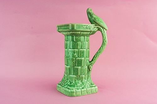 Spectacular Art Deco Bird Water Oil JUG Wade Pottery Vintage Pitcher Medium Juice Unique English 1930s LS