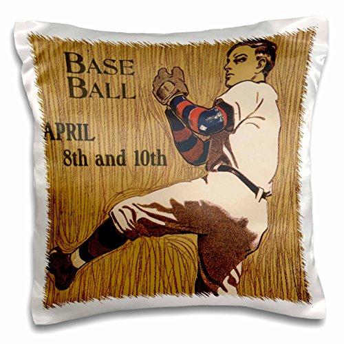 TNMPastPerfect Sports - Vintage Baseball Pitcher Artwork - 16x16 inch Pillow Case pc_183366_1