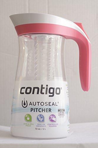 Contigo AUTOSEAL Pitcher Set 72-Ounce Pink