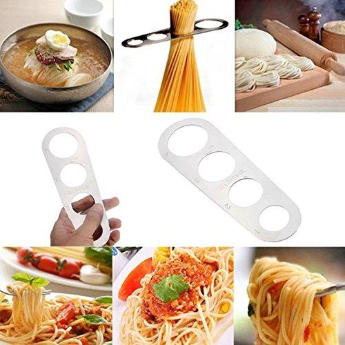 Pink Lizard Stainless Steel Pasta Ruler Spaghetti Measurer Noodles Limiter Measuring Tool