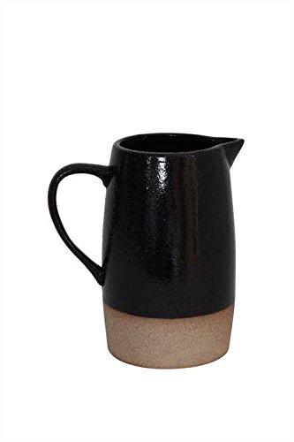 Black Stoneware Pitcher - Set Of 3