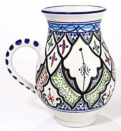 Le Souk Ceramique Tibarine Stoneware Pitcher Large Multicolor