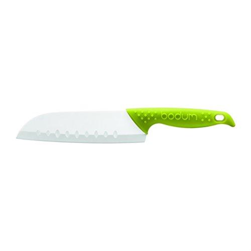 Bodum Bistro Ceramic 17 cm 6-12-Inch Santoku Knife Green