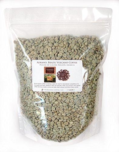 Brazil Adrano Volcano Coffee Green Unroasted Coffee Beans 3 LB