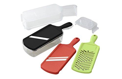 Kyocera Advanced Ceramic Slicer Set with Adjustable Mandoline Julienne Slicer and Grater