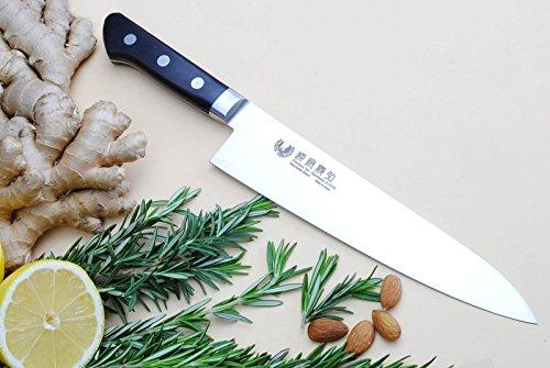 Yoshihiro Inox Stain-resistant Aus-10 Steel Ice Hardened Gyuto Chefs Knife 8inch 210mm