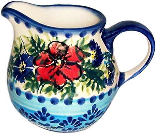 Boleslawiec Stoneware - Polish Pottery Creamer Pitcher - Evas Collection Veronica