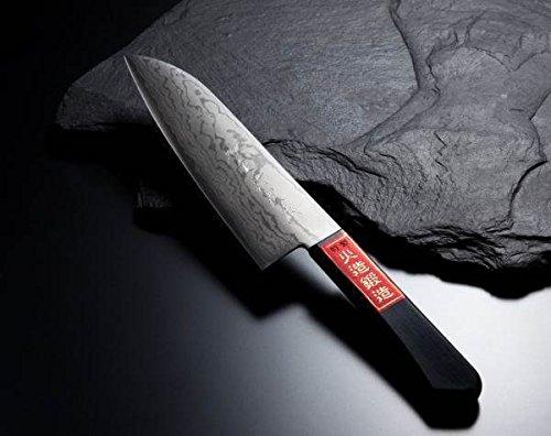 HONMAMON SHIGEHIRO SPECIAL Santoku Hocho All-Purpose Kitchen Knife 170mm abt 67 Inch Blade Edge  VG10 Damascus Pattern Double Bevel