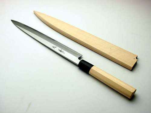 Sashimi Hocho Yanagiba itchen Knife 240mm for Right Hander with Wooden Case Made in Japan Sakai