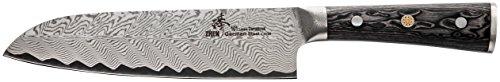 ZHEN Thunder Series 101 Layers German Damascus Steel Santoku Chef Knife 7-inch