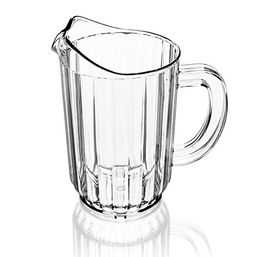 New Star 46113 Polycarbonate Plastic Restaurant Water Pitcher 60-Ounce Clear Set of 12