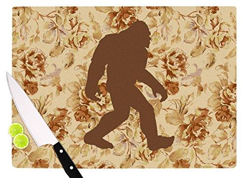 KESS InHouse Alias Bigfoot Beige Brown Cutting Board 115 x 1575 Multicolor