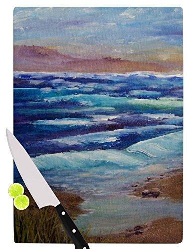 KESS InHouse CS2001ACB01 Cyndi Steen Beach Dreams Blue Brown Cutting Board 115 x 825 Multicolor
