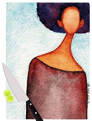 KESS InHouse Stacey-Ann Cole A Sense Of Self Blue Brown Cutting Board 115 x 1575 Multicolor