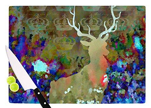 KESS InHouse Suzanne Carter Regal Purple Brown Cutting Board 115 x 1575 Multicolor