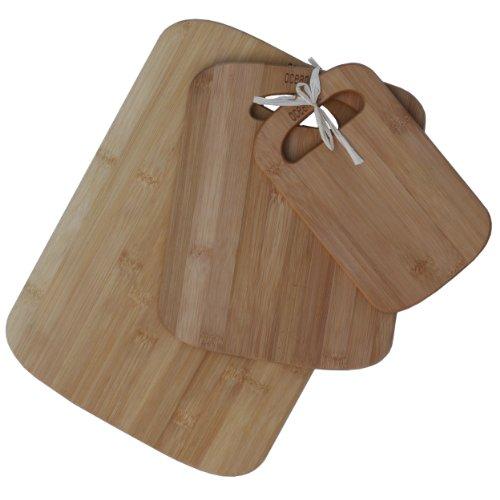 Oceanstar 3-Piece Bamboo Cutting Board Set Natural
