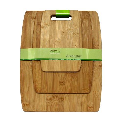 Oceanstar CB1156 3-Piece Set Bamboo Cutting Board Set