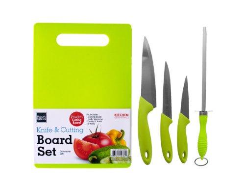 Bulk Buys OC543-4 Knife Cutting Board Set