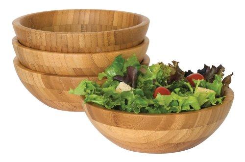 Lipper International 8203-4 Small Bamboo Bowls Set of 4