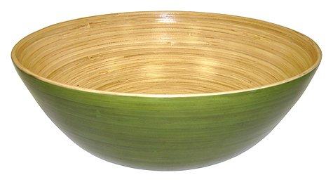 Simply Bamboo Glossy Celadon Bamboo Bowl 14 L X 5 W Green
