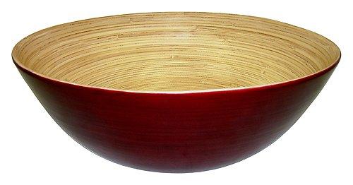 Simply Bamboo Glossy Mahogany Bamboo Bowl