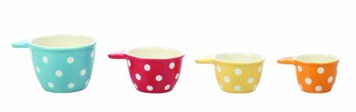 Creative Co-Op Ceramic Measuring Cup Set
