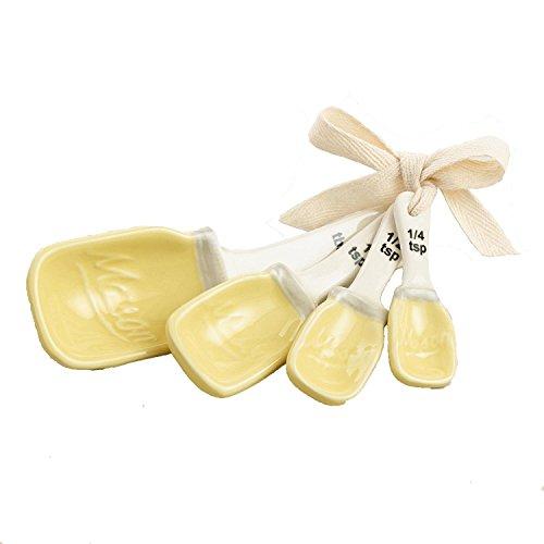 Yellow Mason Jar Ceramic Measuring Spoons