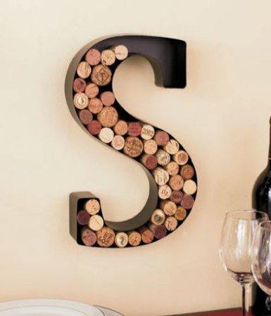 Monogram Wine Cork Holder - Letter S by LTD