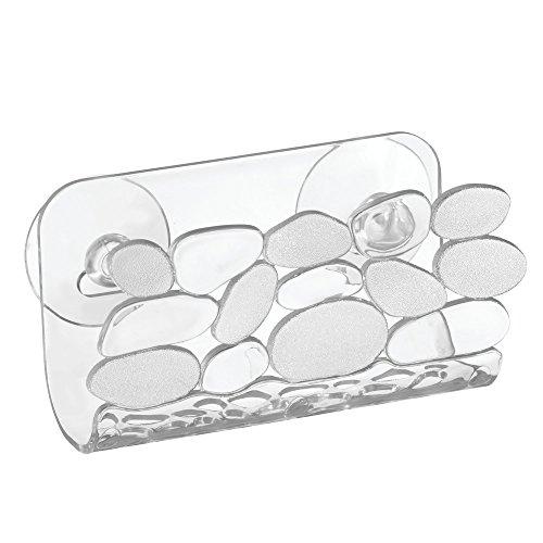 InterDesign Pebbles Kitchen Sink Protector Mat Divider Protector Suction Sponge Holder
