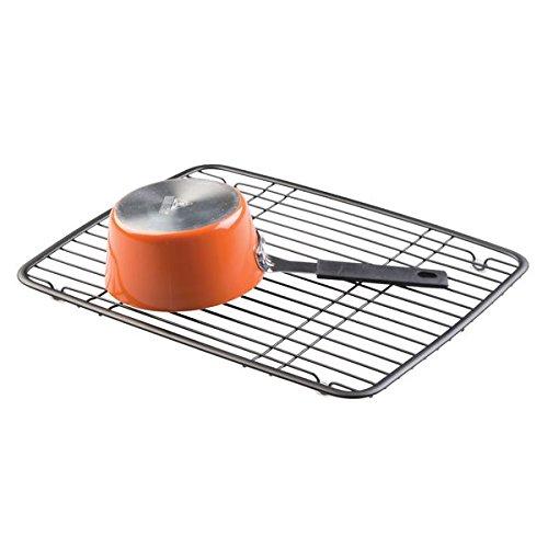 mDesign Kitchen Sink Protector Grid - Matte Black