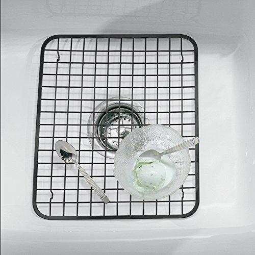 mDesign Kitchen Sink Protector Grid - Regular Matte Black